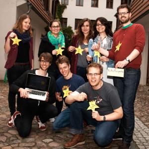 Campaigner*innen des Tages auf der JEF Akademie im Mai 2013 in Berlin