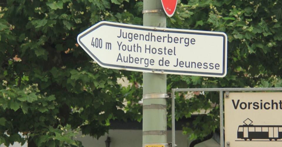 Wegweiser Jugendherberge Frankfurt