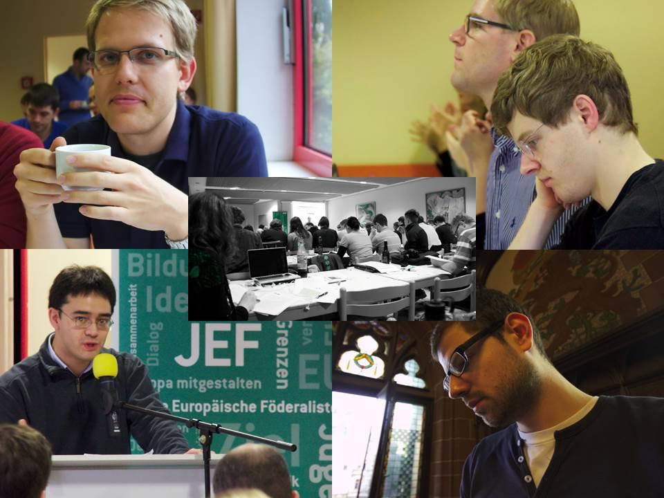 Delegierte der JEF Hessen beim Bundeskongress 2012 in Saarbrücken