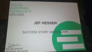 JEF Europe Success Story Award 2014, Foto: Federica Muggironi