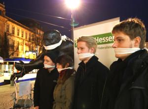 """""""Demokratie unter Druck""""-Aktion 2015 in Hessen"""