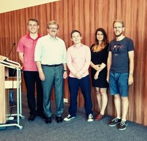 JEF-Mitglieder mit dem Landesvorsitzenden der Europa-Union Hessen, MdEP Thomas Mann