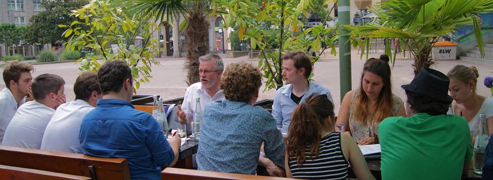 Stammtisch der JEF Mainz-Wiesbaden – hier bei einem früheren Termin mit MdEP Michael Gahler