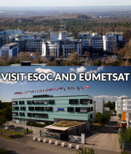 Visit ESOC and EUMETSAT (Images CC-BY-SA LSDSL via Wikipedia and CC-BY-SA C. Weickhmann)