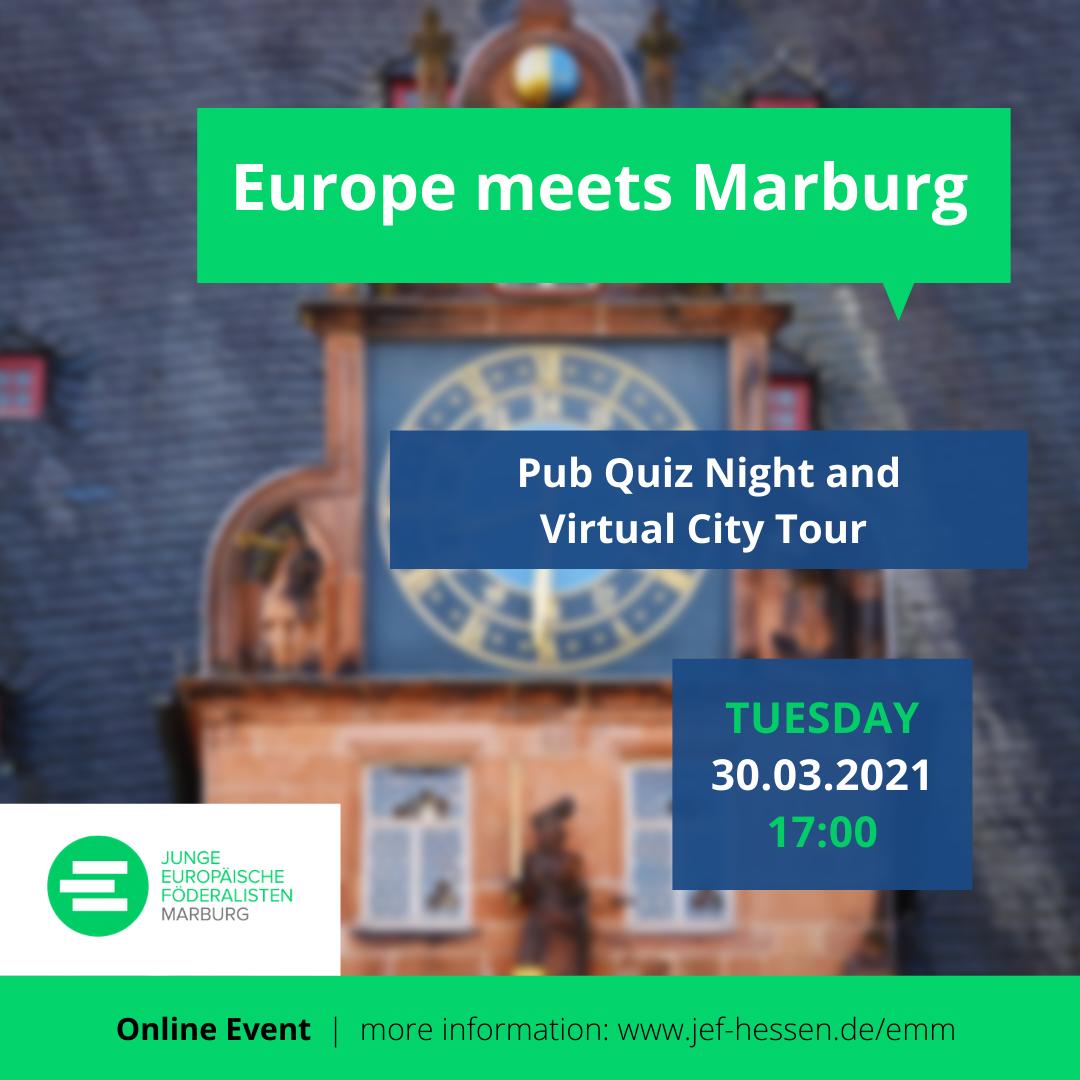 Europe meets Marburg - Pub Quiz Night and Virtual City Tour